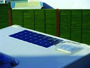 100w solar panel on a caravan