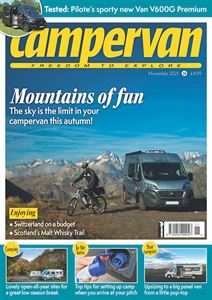 Don't miss the November issue of Campervan!