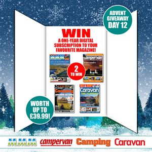 Win a year's subscription to your favourite motorhome, caravan or camping magazine!