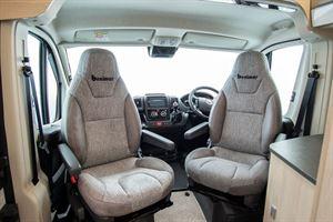 The cab seats in the Benivan 120 campervan