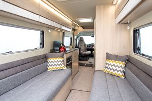 View from the rear to the front of the Benivan 120 campervan