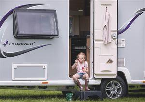 A typical caravan exterior