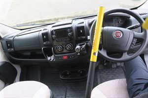 A steering lock can help to keep your motorhome or campervan safe and secure