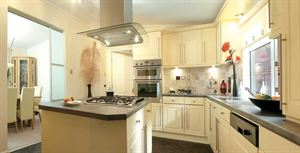 The kitchen in the latest Stately-Albion Carmarthen park home