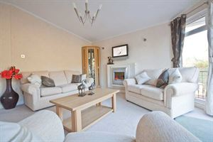 The lounge in the latest Stately-Albion Carmarthen park home