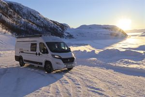 A well-insulated van conversion, like this Hobby Vantana, can be used in all weathers