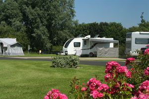 Pitches are spacious and can accommodate motorhomes and caravans