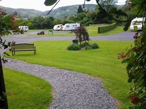 Gravel and tarmac roads make access around the site easy