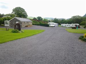 Approaching the caravan park entrance