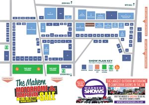 The Malvern Motorhome & Campervan Sale - Exhibition Plan