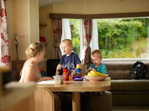 Stay in one of the hire caravans