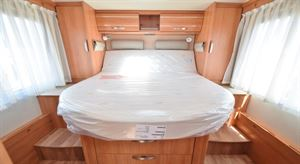 The rear island bed - picture courtesy of Erwin Hymer Travelworld