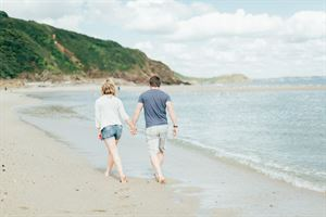 Enjoy strolls along the beach