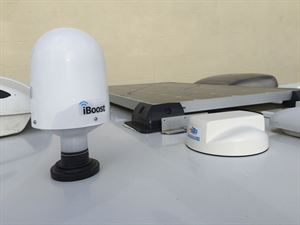 Use an iBoost aerial to increase campsite WiFi strength with a 4G booster box