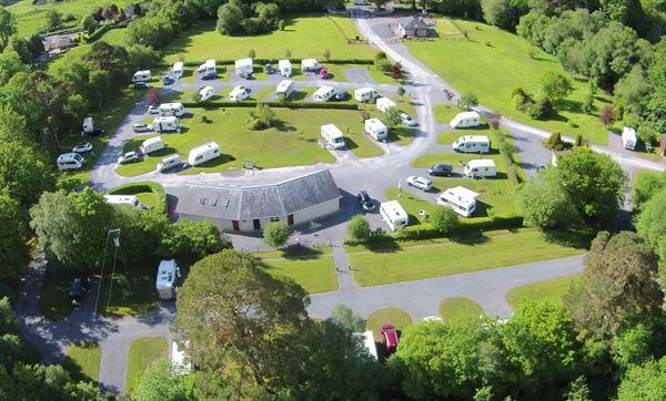 Aerial View of Glen of Aherlow Caravan & Camping Park