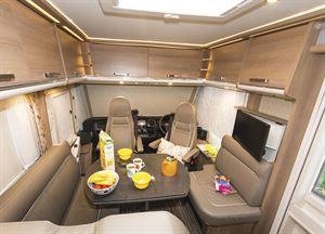 Plenty of overhead storage in the Malibu I 500 QB Touring motorhome
