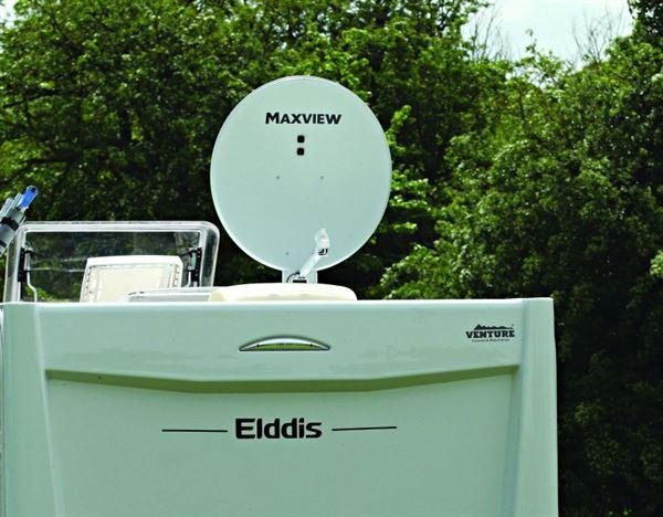 Caravan Satellite Dish - roof mounted