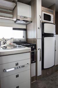 The kitchen in the Benimar Tessoro 482 motorhome