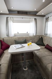 Another view of the rear lounge in the Benimar Tessoro 482 motorhome