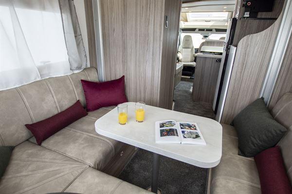 Rear lounge in the Benimar Tessoro 482 motorhome