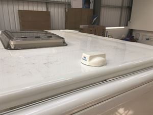 The 4G aerial system sits below the level of most motorhome rooflightsThe 4G aerial system sits below the level of most motorhome rooflights