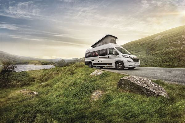The Auto-Trail Adventure is a high-top campervan with a pop-top to offer more berths