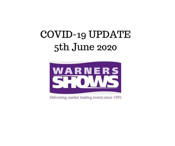 Warners Motorhome Shows - Coronavirus update June 2020