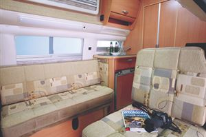 The lounge in the VW Topaz from Auto-Sleepers