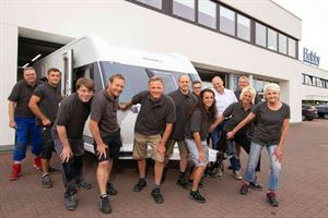 Hobby makes its 600,000th caravan!