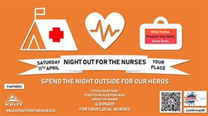 Pitch up in your garden or driveway in your tent, caravan, campervan or motorhome this Saturday (11 April, 2020) and help to raise funds for the NHS staff