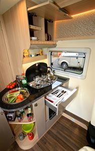 Good storage, low-level oven