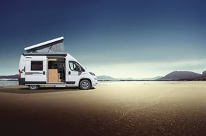 Larger and taller campervans with a pop-top have become a lot more commonplace - this is a Weinsberg CaraBus