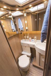 The washroom in the Malibu I 500 QB Touring motorhome