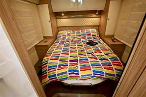 The rear island double bed