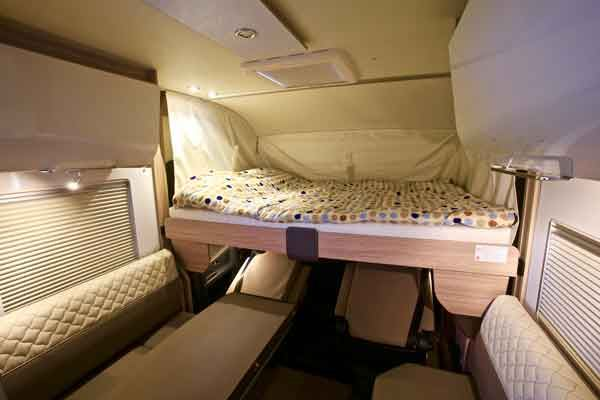 The over-cab drop-down bed
