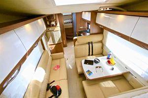The lounge area in the Bürstner Argos 747-2 G