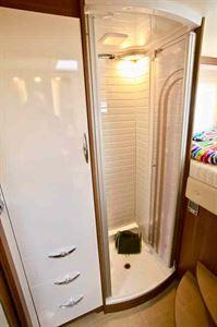 The shower room in the Bürstner Argos 747-2 G