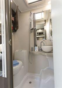 The washroom in the Elddis Encore 250 motorhome