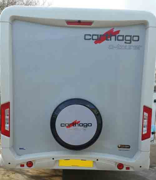 This project shows you how to make a spare wheel carrier for your motorhome
