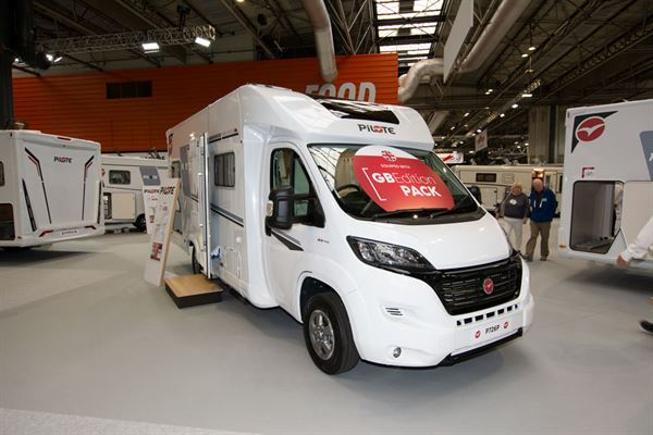 A Pilote motorhome with GB Edition Pack