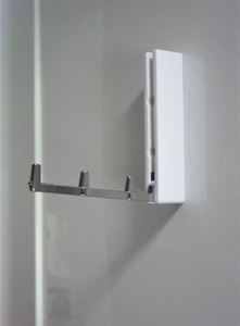 A hinge-down hanger for towels or clothes