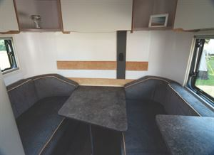 Bailey Discovery D4-3 - a wedged shaped table at the rear