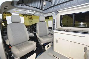 Cab seats in the A1 Camper Conversions Explorer campervan