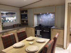 The kitchen, warm and stylish