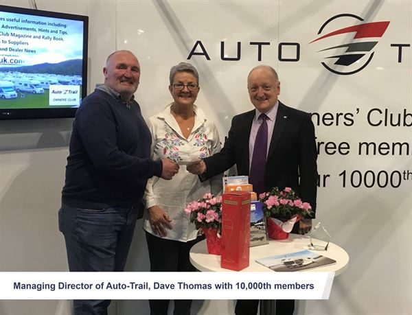 Auto-Trail's Managing Director Dave Thomas with Kim and Julia