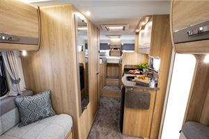 A view of the interior of the Elddis Autoquest 194 motorhome