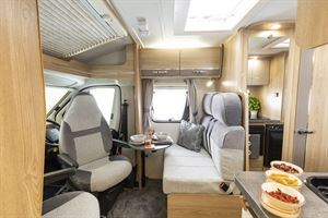 The lounge and cab in the Elddis Accordo
