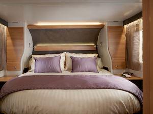 Adamo 75-4I rear bedroom fixed island bed with full wall headboard