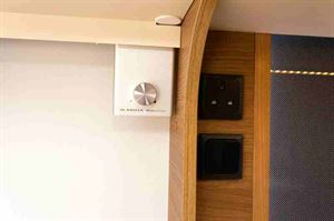 Adria's neat 'Media Controller' sits under a locker in the lounge