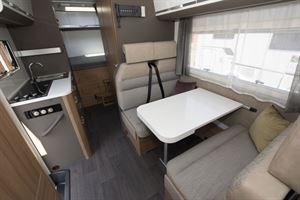 View from front to rear in the Adria Coral XL Plus 600 DP motorhome